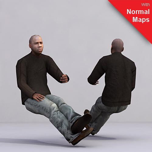 3d axyz 2 human characters model