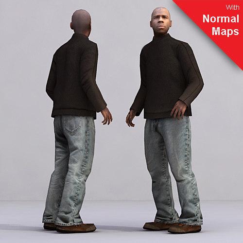 axyz 2 human characters 3d model
