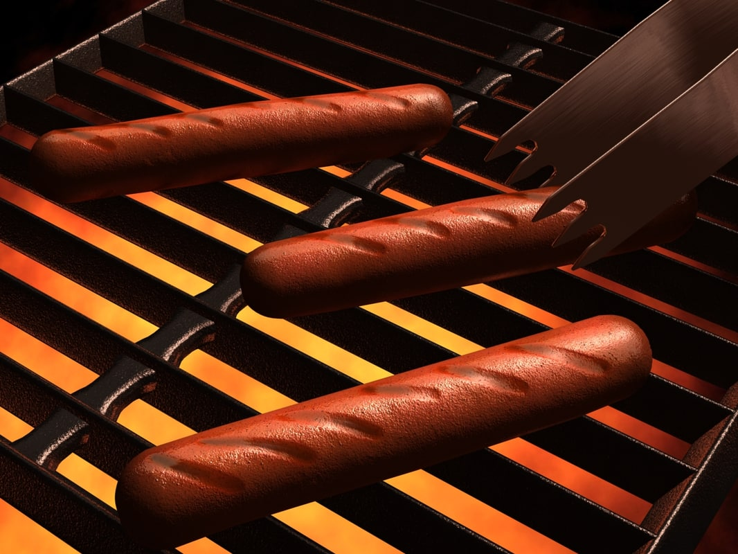 3ds max hot dogs grill
