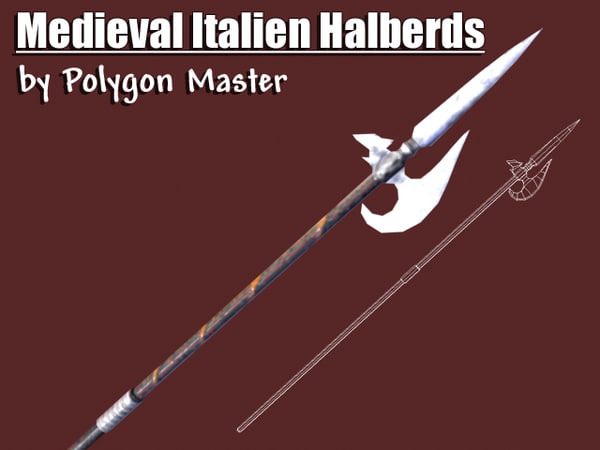 medieval italian halberds 3ds