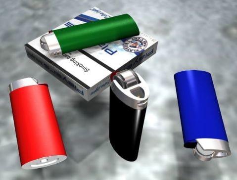 cigarettes lighters 3d max