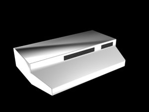 kitchen stove hood 3d model