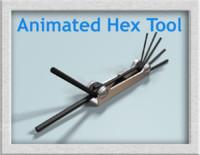 3d hex tool model