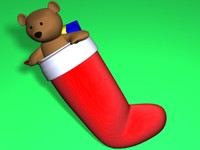 christmas stocking 3d model