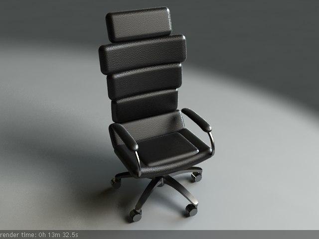 presidential chair 3d model