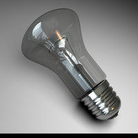 3d lightbulb light