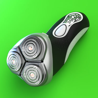 3ds max philips electric shaver