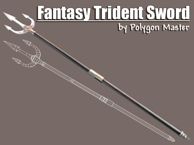 3d model trident sword games