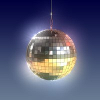 disco ball light 3d model
