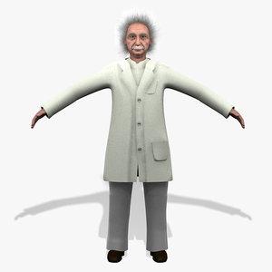 3d albert einstein character model