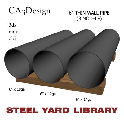6in pipe 3ds