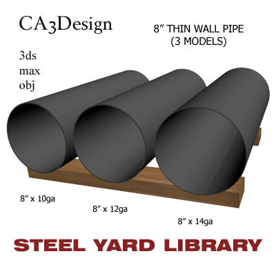 maya 8in pipe steel