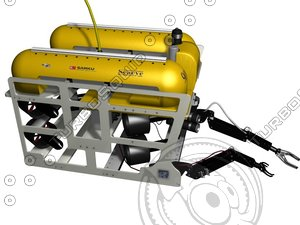 3d model rov remotely commercial