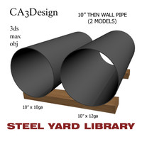 10in pipe steel 3ds
