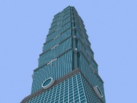 3d taipei skyscrapers buildings model