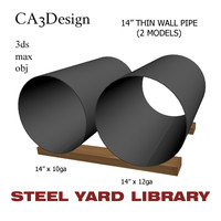 3d 14in pipe steel