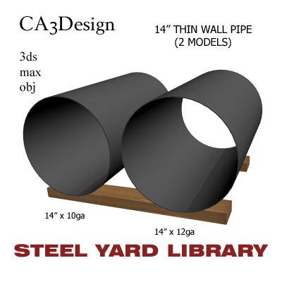 3d 14in pipe steel