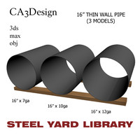 3d 16in pipe steel model