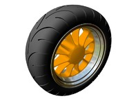 motorcycle wheel 3d 3ds