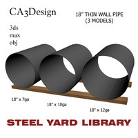 18in pipe steel 3d model