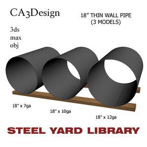 18in pipe steel 3d model
