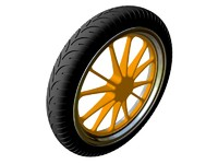 3ds max motorcycle wheel