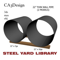 3d 22in pipe steel model