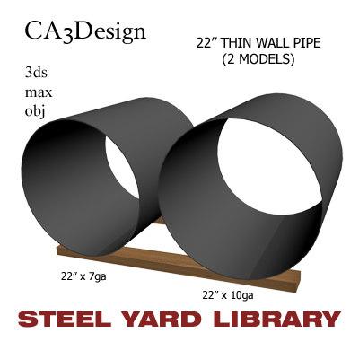 3d 22in pipe steel model