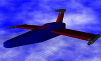 free f-5000 sci-fi aircraft 3d model