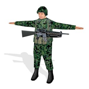 free soldier 3d model