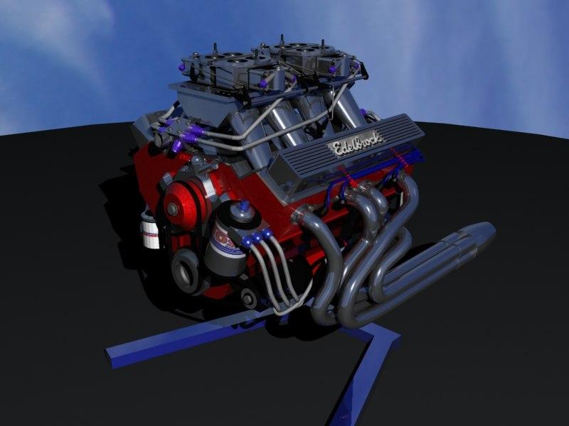 engine racing 3d model