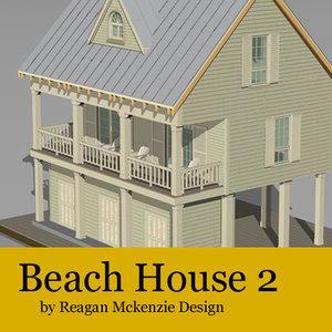 3d model beach resolution siding