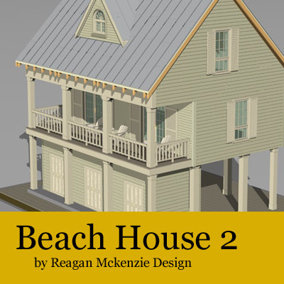 3d model beach resolution siding