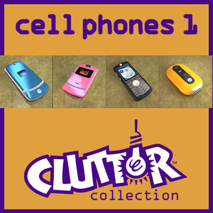 cell phones 1 clutter 3d model