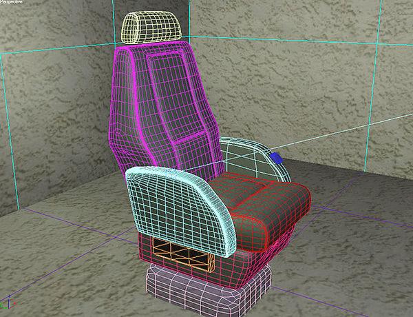 3d model seat learjet