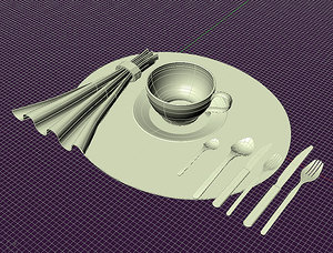 3d tea cup napkin
