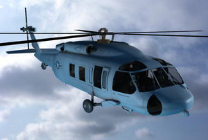 mh-60 helicopter 3d xsi