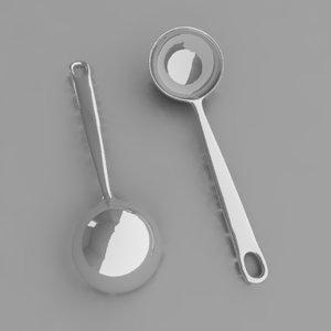 3ds max ladle kitchen utensil