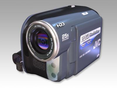 3d model jvc camcorder