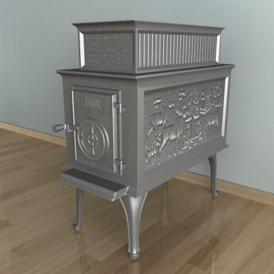 fire-place stoves 3d model