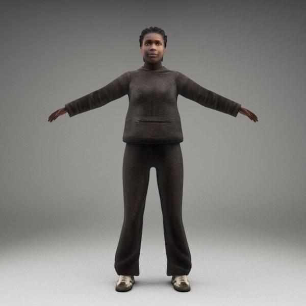 3d axyz characters human