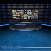 dxf tv news studio set