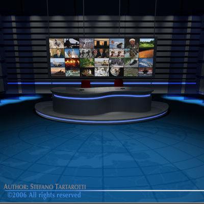 dxf tv news studio set