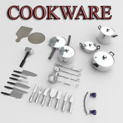 cookware cook ware 3d model