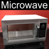 microwave panasonic 3d model