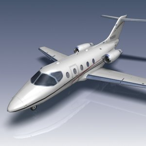 hawker 400xp aircraft beechcraft 3d model