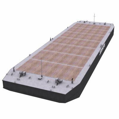 flat-top barge cargo 3d model
