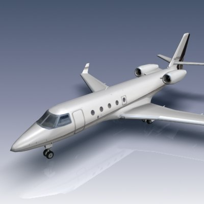 3d gulfstream g150 aircraft business jet
