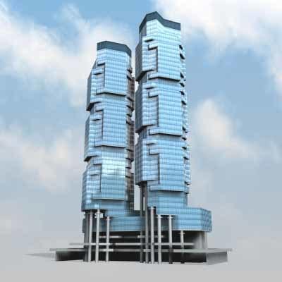 3d lippo centre building model