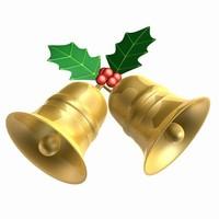 3d model of bells christmas
